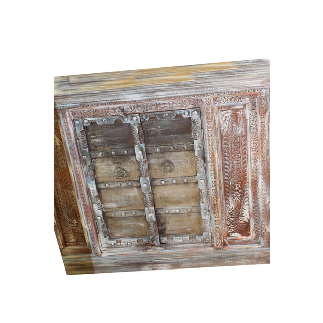 Boho Chic 1920s Boho Chic Distressed Buffet For Sale - Image 3 of 4