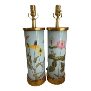 Liz Marsh Contemporary Flora Garden Variety Table Lamps - a Pair For Sale