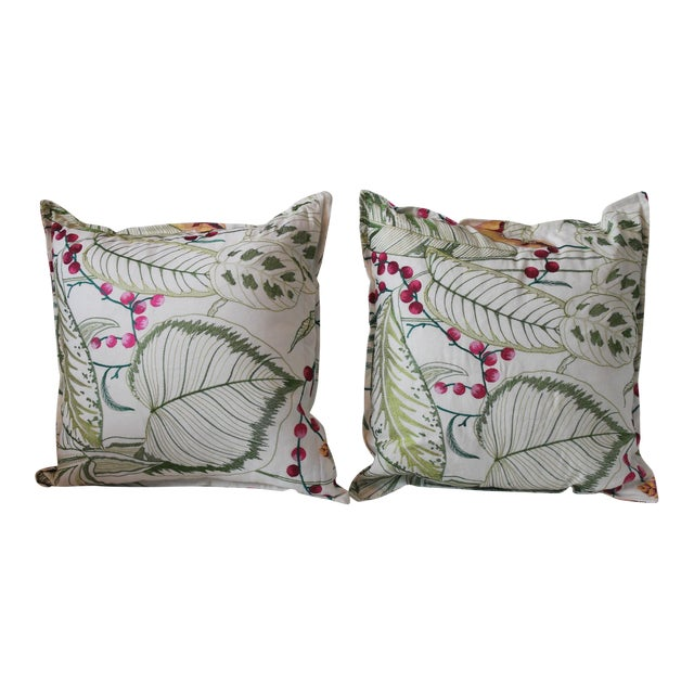Osborne & Little Sumatra Fabric Pillows - A Pair For Sale