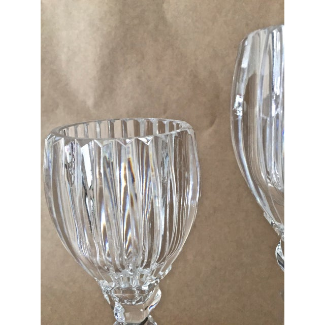 Modern Vintage Crystal Candle Holders - Set of 3 For Sale - Image 3 of 7