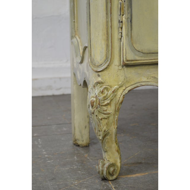 Antique 18th Century French Louis XV Style Painted 2 Door Console Server For Sale - Image 10 of 10