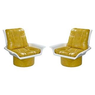 Futorian Decorian Molded Plastic Lemon Candy Shell Italian Modern Lounge Chairs Preview