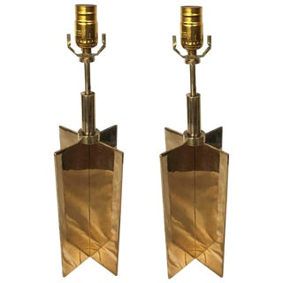 Pair of Custom Croisillon Lamps in the Jean Michel Frank Manner For Sale