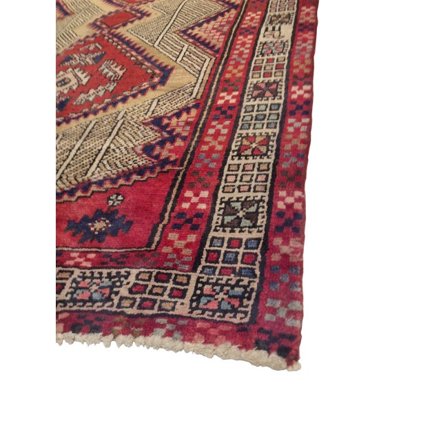 Handmade Persian Serab rug with detailed medallion. The design of this rug is considered to be a one-of-a-kind Persian...