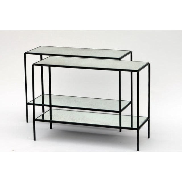 2010s The 'Rectiligne' Narrow Mirrored End Table For Sale - Image 5 of 8