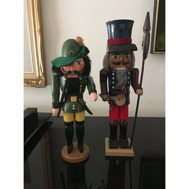 Wood Vintage German Nutcrackers - A Pair For Sale - Image 7 of 7