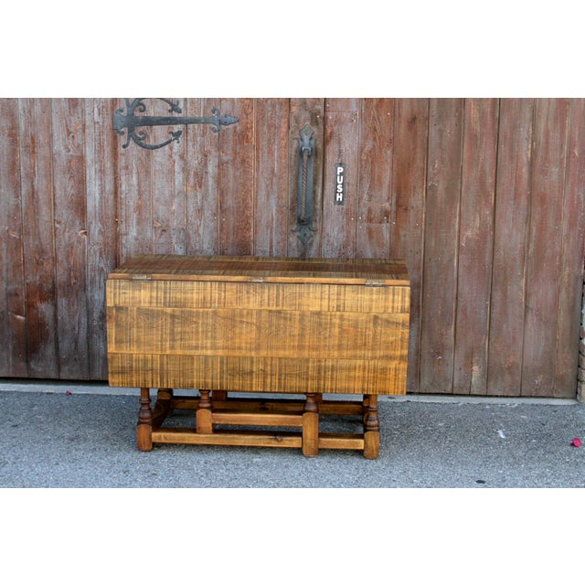 Spanish Colonial Folding Gateleg Table For Sale - Image 4 of 12