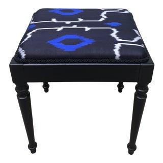 Vintage Ikat Silk Bench For Sale