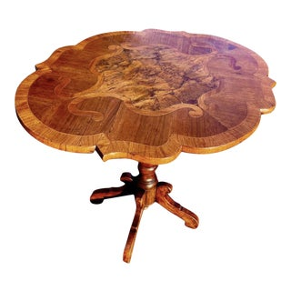 19th Century Italian Inlaid Center Hall Table For Sale