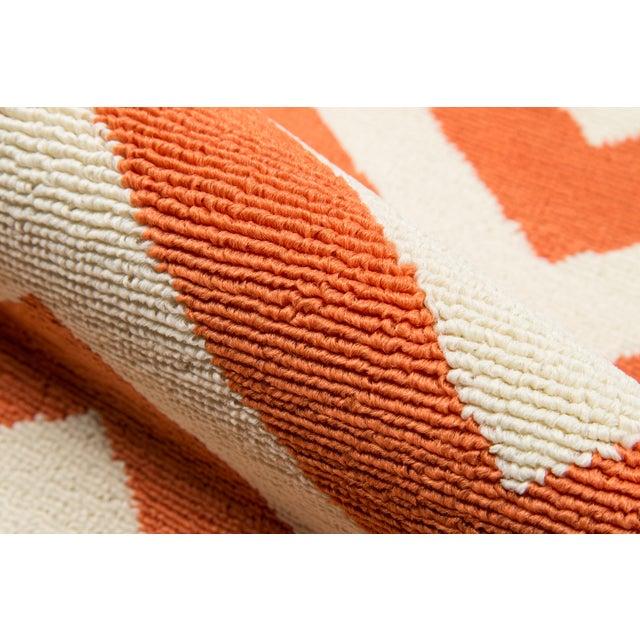 """Momeni Baja Orange Indoor/Outdoor Rug - 6'7"""" X 9'6"""" For Sale - Image 4 of 6"""