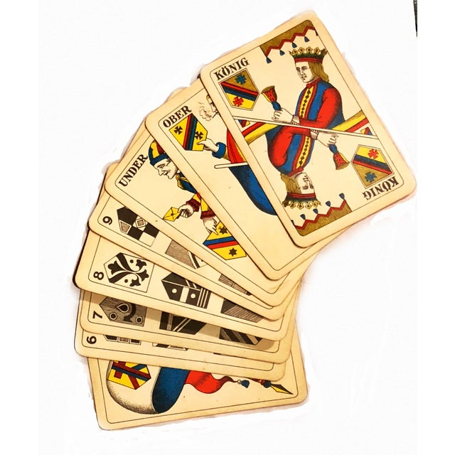Wood 19th Century Art Nouveau Playing Cards and Marquetry Box For Sale - Image 7 of 8