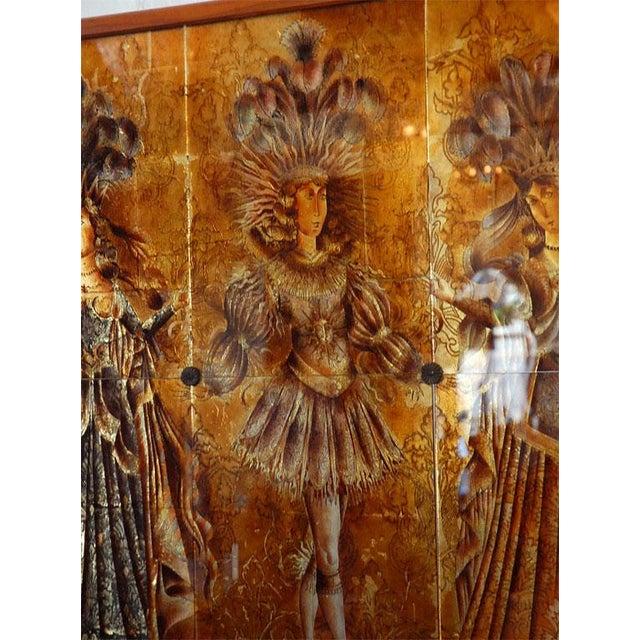 Italian Mid-Century Églomisé Panel For Sale - Image 4 of 9