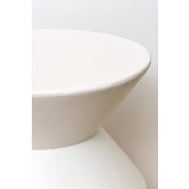 Sirmos Plaster of Paris Modernist Sculptural Side Tables - a Pair For Sale - Image 9 of 10