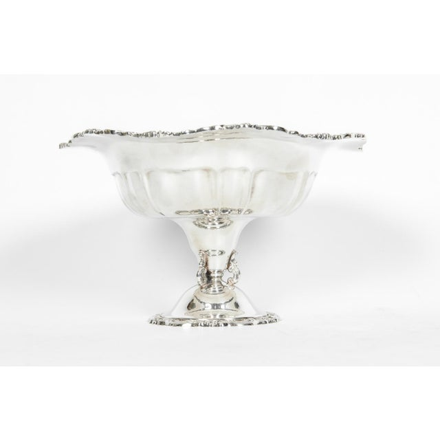 Metal Vintage Silver Plate Fruit Bowl Piece For Sale - Image 7 of 13