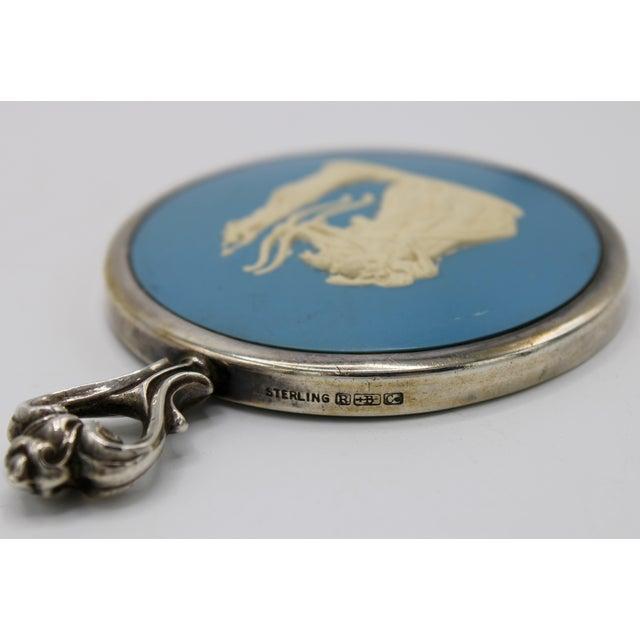 Metal Jasperware Sterling Silver Wedgewood Purse Mirror For Sale - Image 7 of 8
