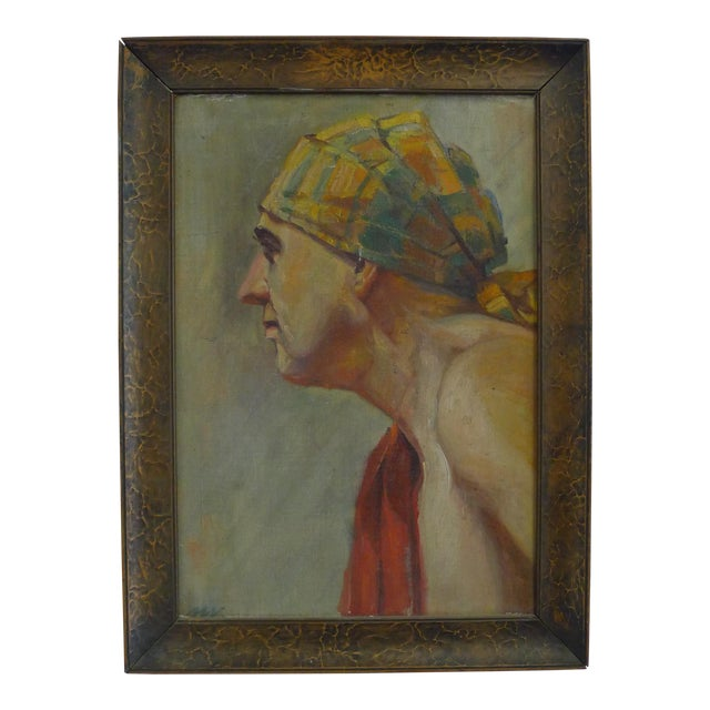 Early 20th Century Antique Portrait Painting For Sale