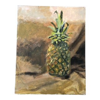 Original Contemporary Impressionist Still Life Painting Pineapple For Sale