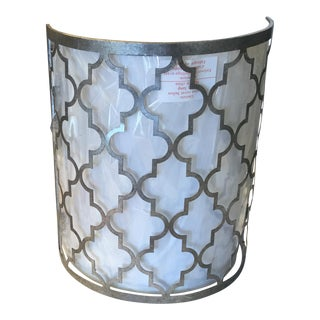 Moroccan Motif Metal Sconce For Sale