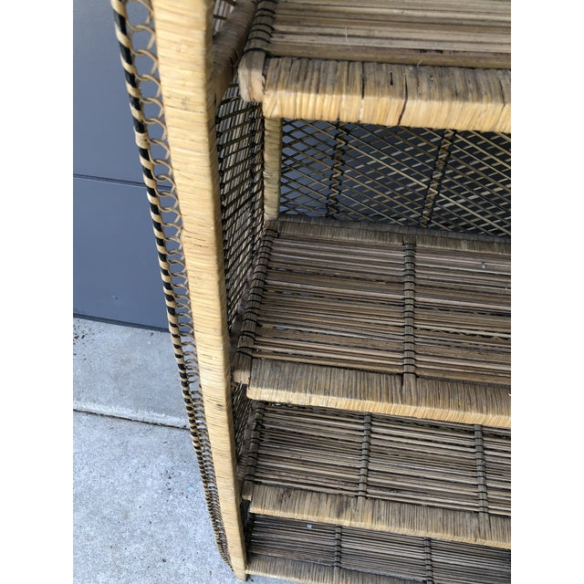 Boho Chic Rattan Woven Bookshelf For Sale In Pittsburgh - Image 6 of 10