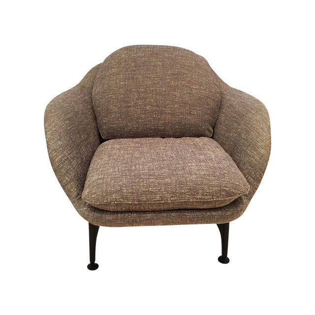 Cassina 399 VICO Gray Armchairs - A Pair - Image 1 of 6