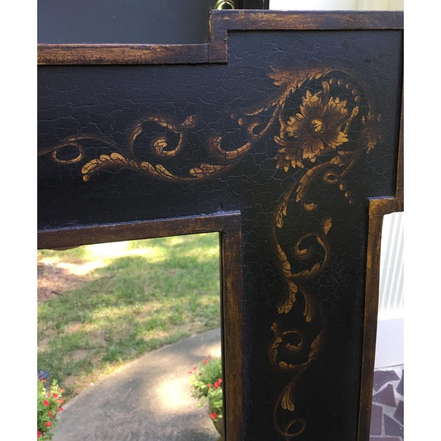 This Rectangular Hand Painted Wooden Mirror has a Gorgeous Classic Scroll Design ! Both Black and Green Mirrors are easy...