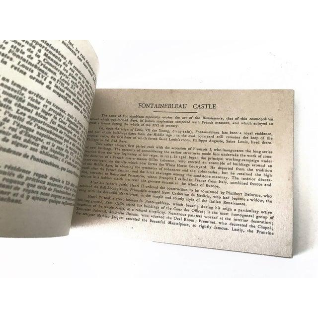 Paper French Chateau De Fontainbleau Souvenir Postcard Book For Sale - Image 7 of 11