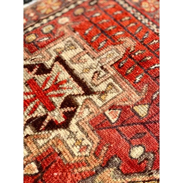 Textile 1950's Vintage Persian Karajeh Short Runner 3'x6' For Sale - Image 7 of 13