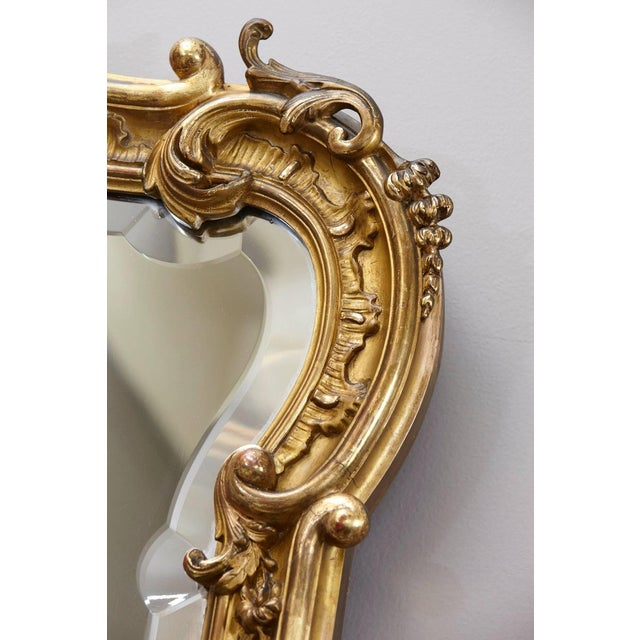 Rococo 19th Century French Rococo Mirror With Beveled Glass For Sale - Image 3 of 11