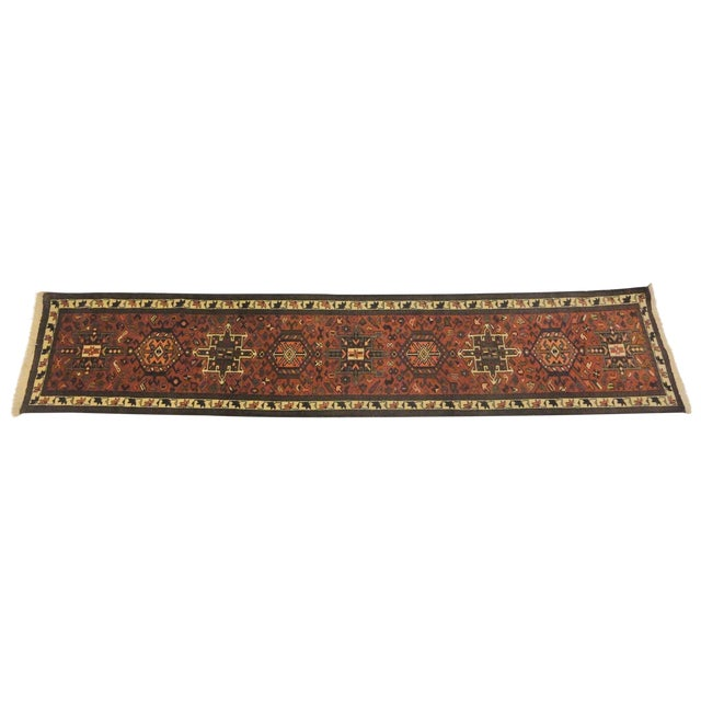 "Persian Heriz Runner Rug - 10'7"" x 2'2"" For Sale"