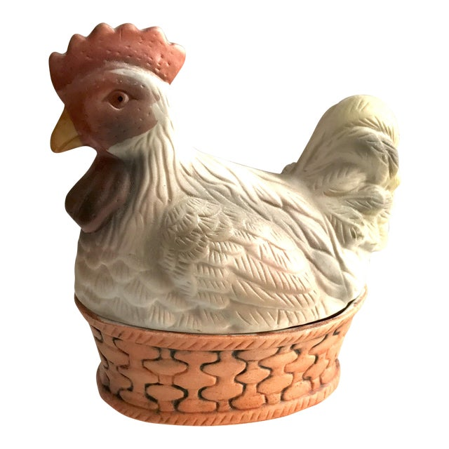 Vintage Porcelain Rooster Covered Trinket Box - Image 1 of 5