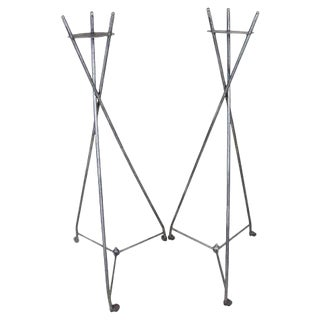 Napoleon III Polished Plant Stands - Set of 2 For Sale