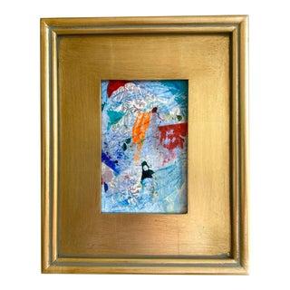 """Jessalin Beutler """"Splash Game"""" 2021 Framed Mini Painting For Sale"""