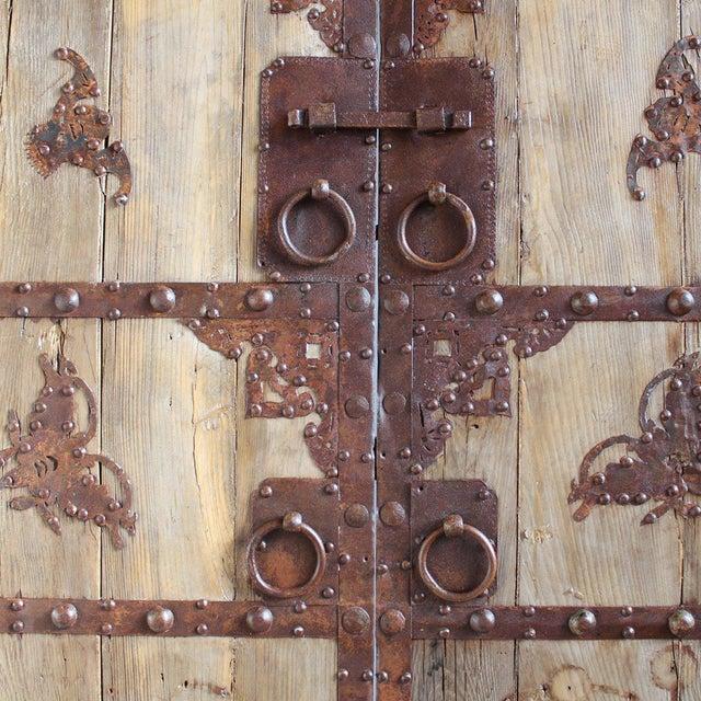 Antique Chinese Wood & Iron Door - Image 3 of 4