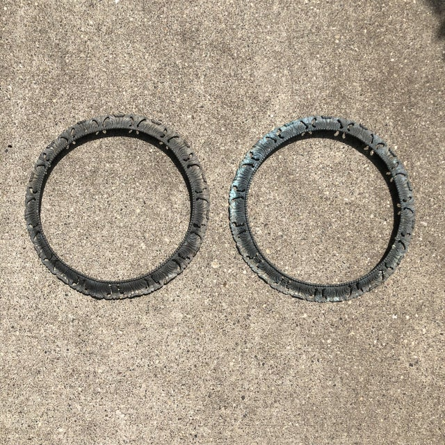 """Antique Pair of Beaux Arts 20"""" Round Bronze Surrounds - a Pair For Sale - Image 13 of 13"""