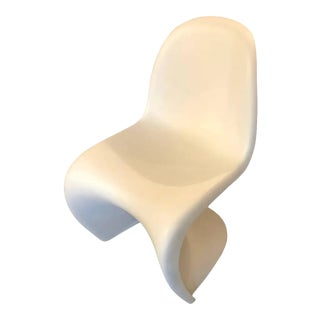 2001 German Space Age Iconic Verner Panton for Vitra White Abs Chair For Sale