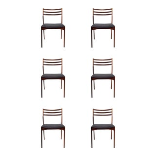 Set of 6 Vintage Danish Rosewood Dining Chairs For Sale