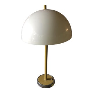1970s Mod Yellow Table Lamp For Sale