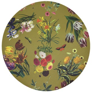 "Nicolette Mayer Flora Fauna Acid 16"" Round Pebble Placemat, Set of 4 For Sale"