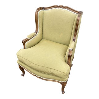 Queen Anne Wing Back Chair** For Sale