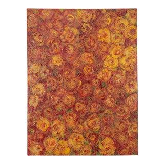 """Rose Field"", Original Mixed Media Painting by Sheema Muneer"