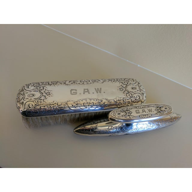 Gorham Sterling Silver Monogrammed Vanity Nail Buffer For Sale - Image 5 of 6