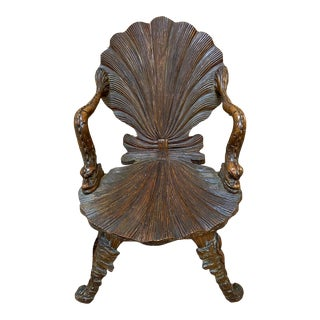 Early 19th Century Italian Carved Grotto Chair For Sale