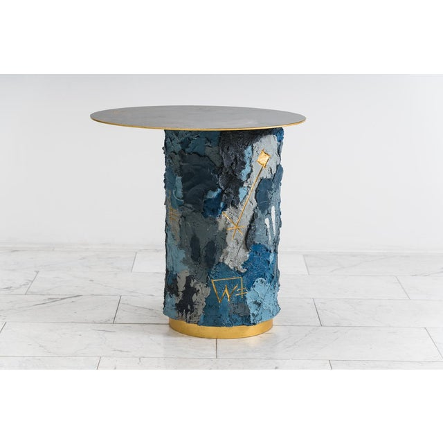 2010s Concrete and Steel Occasional Table, Usa, 2019 For Sale - Image 5 of 12