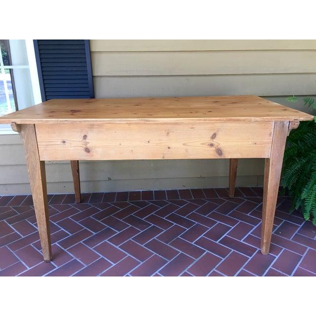 French Pine Single-Drawer Desk - Image 4 of 11