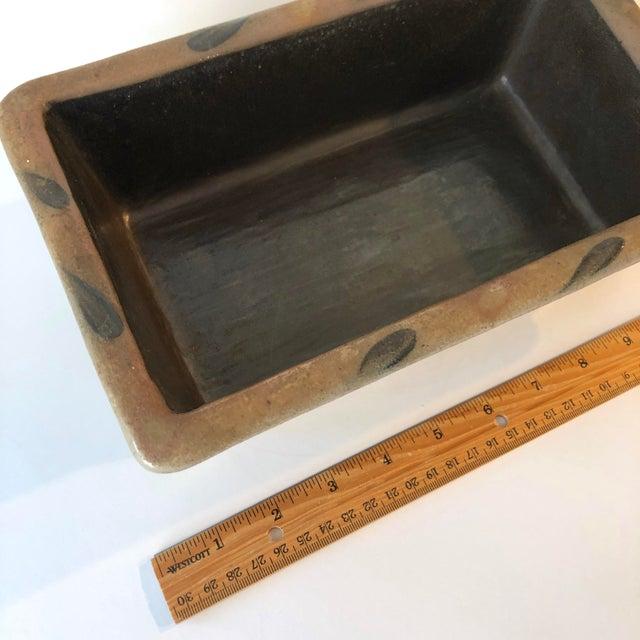 Rowe Pottery Salt Glazed Loaf Dish - Vintage Farmhouse For Sale - Image 10 of 12