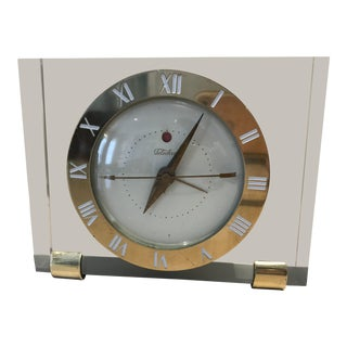 Mid-Century Lucite Clock For Sale