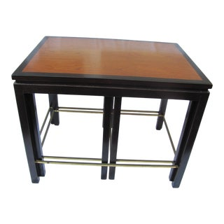 1950s Edward Wormley Dunbar Nesting Tables - Set of 3 For Sale
