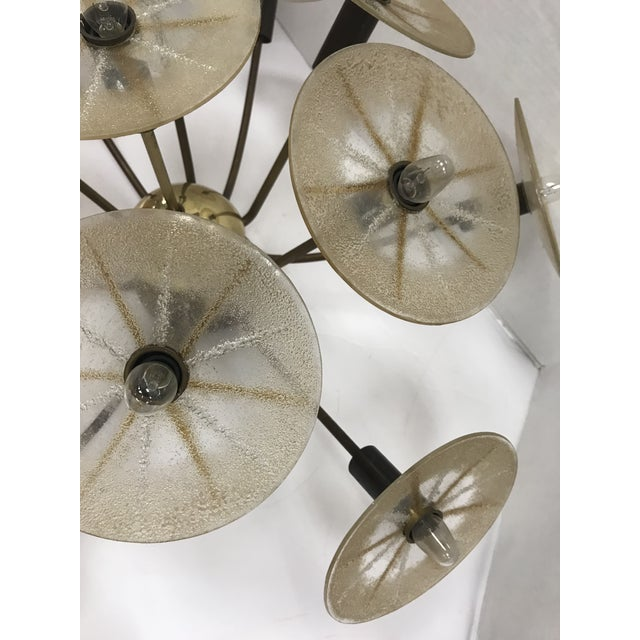 Glass Mid-Century Lightolier Chandelier by Gerald Thurston For Sale - Image 7 of 8