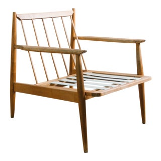 Mid Century Adrian Pearsall Style Walnut Lounge Chair Frame For Sale