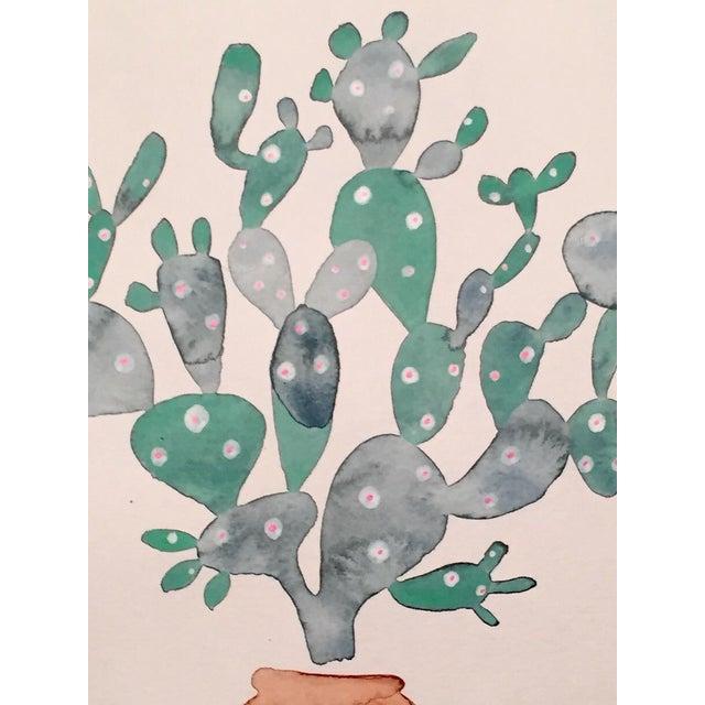 Sage Cactus Watercolor - Image 2 of 2